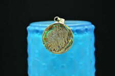 925 STERLING SILVER CIRCLE SHAPE WITH ABALONE PENDANT CHARM #X-10752