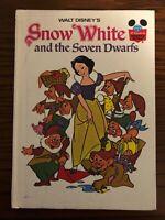 Walt Disney's Snow White and the Seven Dwarfs Book Club Edition Vintage 1973