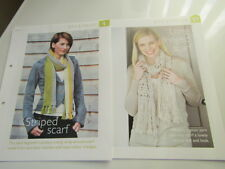 striped & fringed scarfs crochet patterns removed from art of crochet mag