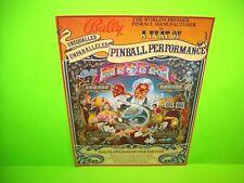 Bally MYSTIC 1980 Original Arcade Flipper Game Pinball Machine Flyer Magic Theme