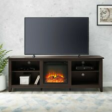 Fireplace TV Stand for TVs up to 78 in. Plug In Espresso Traditional Wooden New