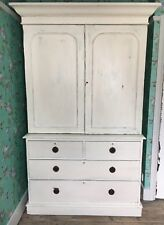 Antique Painted Linen Press