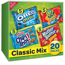 NABISCO VARIETY PACK COOKIES & CRACKERS CLASSIC MIXED - 1oz  20ct