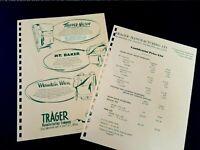 VINTAGE TRAGER BACK PACKS 1962 Pages from Manar Sales Catalog