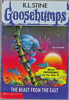 Goosebumps #43 THE BEAST FROM THE EAST - R L Stine PB Book Vintage 1996 1st Ed.