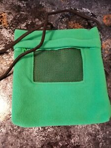 Critter Bonding Carry Pouch - Green- Sugar Glider,  Reptile, Small Animal etc.