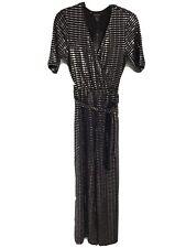Ladies Black/Silver New Look Short Sleeved Jumpsuit  - Size 10 BNWT