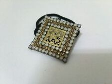 Rhinestones Chemical Fiber Other Jeweleries Auth acca Gold White Black Hardware