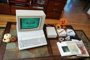 Apple II Professionally Restored Computer with Monitor Huge Lot Games Programs
