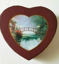 Thomas Kinkade Gift Box Sweetheart Cottage Heart-shaped Paper Print 1998 Vintage