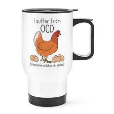 poule OCD voyage tasse avec poignée - Drôle THERMIQUE flacon