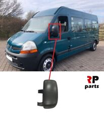 FOR RENAULT MASTER 04-10, MOVANO 04-10 WING MIRROR COVER CAP BLACK LEFT N/S