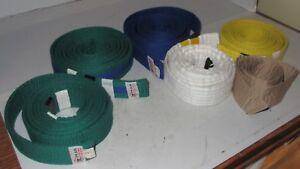 LOT OF 6 Taekwondo Judo MMA Karate Belts Martial Arts Color Belts HAN & Misc Use