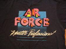 Vintage 1980s Us Air Force-Health Professions- T Shirt-Medium