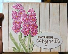 Congrats Handmade Greeting Card, elegant, flower, pink Lilac, party, retirment