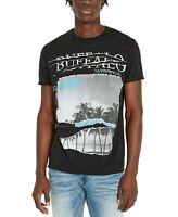 Buffalo David Bitton Men's Tijump Palm T-Shirt Black Small