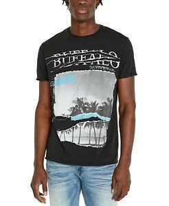 Buffalo David Bitton Men's Tijump Palm T-Shirt Black Small