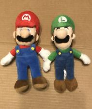 "Super Mario & Luigi Plush Dolls Stuffed Animal Figure 8"""