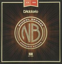 D'Addario Nickel Bronze Medium Acoustic Guitar Strings 13-56