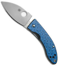 "SPYDERCO Lil' Lum Nishijin 2.72"" VG-10 Steel Blue Glass Fiber Handle C205GFBLP"