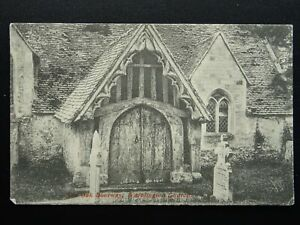 Hampshire WARBLINGTON St Thomas a Becket Church OLD OAK DOORWAY c1905 Postcard