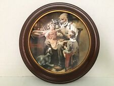 """""""The Toy Maker"""" 1st Ed~Vintage Knowles Norman Rockwell w Plate Frame ~1977 W Coa"""