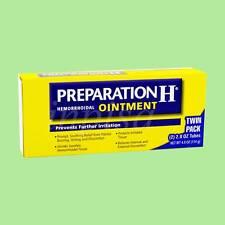PREPARATION H 1 TWIN PACK NET 4oz HEMORRHOIDAL OINTMENT (114g)