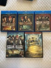 New ListingLot Of 5 Dvds — Pirates Of The Caribbean Complete Movies 1-5