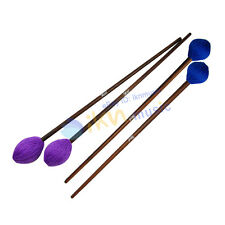New 2 Pairs of Maple Handle Marimba Mallets Soft Head and Hard Head Mallets