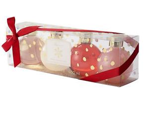 Tricoastal 4-Pc Holiday Shower Gel & Bubble Bath Set Vanilla Sugar & Peppermint