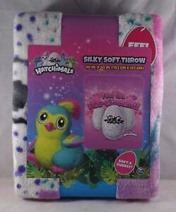 Jay Franco & Sons Hatchimals Silky Soft Fleece Throw -- New