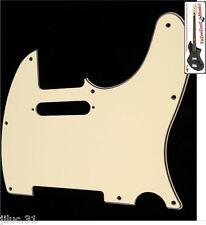 NEW PICKGUARD TELECASTER cream 3 ply for guitar tv