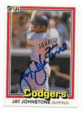 JAY JOHNSTONE 1981 DONRUSS AUTOGRAPHED SIGNED # 300 DODGERS