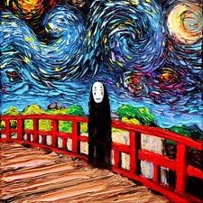 Wall Art Print Starry Night van Gogh Was Never Spirited Away No Face Decor Aja