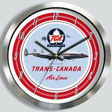 TRANS CANADA AIRLINES LOCKHEED CONSTELLATION WALL CLOCK METAL TCA 1950s 1960s