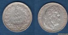 Louis Philippe Ier , 1830 - 1848 5 Francs Tete Laurée 1842 B Rouen TTB Tranche R