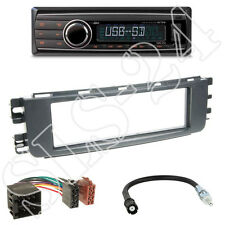 Caliber RMD212 Autoradio + Smart ForTwo (W454) Blende schwarz + ISO Adapter