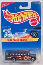 "Hot Wheels Ford B Series Conventional School Bus 3"" Scale Model Heat Fleet Green"