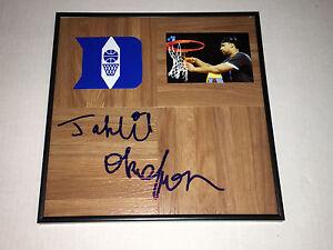 Duke Blue Devils JAHLIL OKAFOR Signed Autographed Basketball Floor COA! GO DUKE
