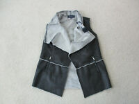 NEW Jones New York Vest Women Small Petite Black Open Front Jacket Ladies