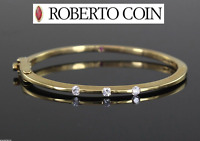 Roberto Coin Diamond 18K Yellow Gold Classica Parisienne Bangle Bracelet
