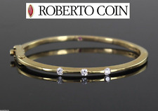 Roberto Coin 18ct Oro Amarillo 0.35ct Diamante Clásica PARISIENNE Pulsera