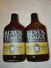 Rufus Teague Whiskey Maple BBQ Sauce 16 oz ea BBD JAN 2022