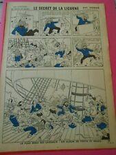 Planche Tintin Le secret de la licorne ( echo de la mode ) 1962