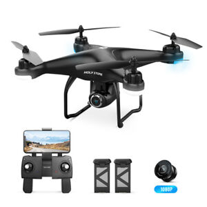 HS120D Holy Stone GPS Drohne mit 1080P HD Kamera RC FPV Quadrocopter 2 Akkus