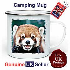 Red Panda Camping Mug, Hiking Mug, Red Panda Mug, Outdoor Mug, Tin Mug,