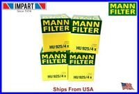 BMW Mann Oil Filter 6 Cylinder  HU925/4x 11 42 7 512 300  qnt. 4
