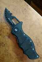 """CHINA's BEST FROST CUTLERY RUSS FARRELL 7.25"""" FULL OPENED LINERLOCK CLIPON KNIFE"""