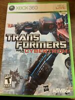 Transformers: War for Cybertron (Microsoft Xbox 360, 2010) No Manual. Cleaned!