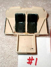 "(1) Slot Car interior with seats 2 3/8"" long X  2 1/4"" wide 1960 Vintage used #1"
